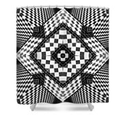 Geometric Progression Shower Curtain