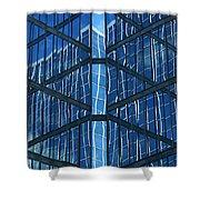 Geometric Reflection Shower Curtain