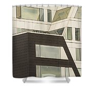 Geometric Shapes In Architecture Shower Curtain