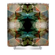 Geometric Textured Abstract  Shower Curtain