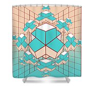 Geometric2 Shower Curtain