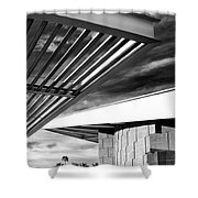 Geometry Lesson Palm Springs Tram Station Shower Curtain