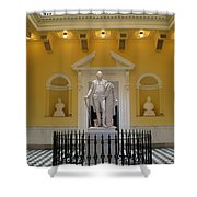 Georg Washington Statue - Capitol Richmond Shower Curtain