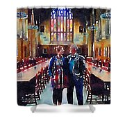 George And Chrissy At Hogwarts Shower Curtain