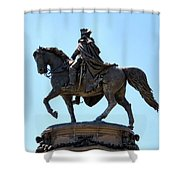 George And His Horse Shower Curtain