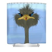 George And His Visitor  Shower Curtain