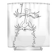 George Bernard Shaw Caricature Shower Curtain