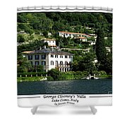 George Clooney Villa.como Shower Curtain