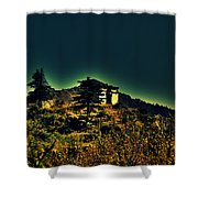 George Everest Observatory Shower Curtain