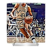 George Gervin Shower Curtain by Florian Rodarte