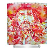 George Harrison With Hat Shower Curtain