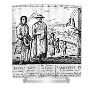 George IIi Cartoon, 1779 Shower Curtain