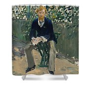 George Moore In The Artist's Garden Shower Curtain