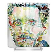 George Orwell Watercolor Portrait Shower Curtain