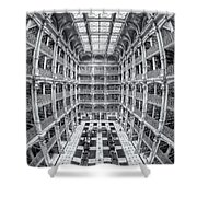 George Peabody Library Iv Shower Curtain
