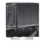 George Washington Bridge Twilight II Shower Curtain