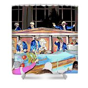 George Washington Float Side View Shower Curtain