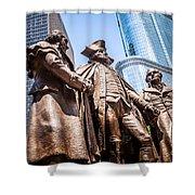 George Washington-robert Morris-hyam Salomon Memorial Statue Shower Curtain