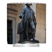 George Washington Statue Shower Curtain
