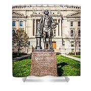 George Washington Statue Indianapolis Indiana Statehouse Shower Curtain