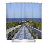 Georgia Boardwalk Shower Curtain