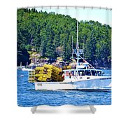 Georgia Madison Lobster Boat Shower Curtain