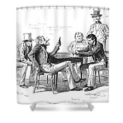 Georgia: Poker Game, 1840s Shower Curtain