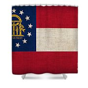 Georgia State Flag Shower Curtain