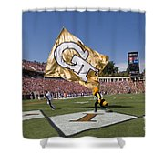 Georgia Tech Touchdown Celebration At Uva Shower Curtain