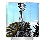 Georgia Windmill Shower Curtain
