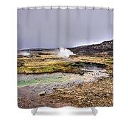 Geothermal Landscape  Shower Curtain