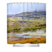 Geothermal Pools Shower Curtain