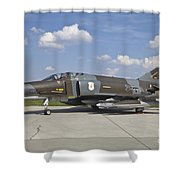 German Air Force F-4f Phantom II Shower Curtain