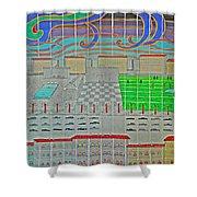 German Cityscape Shower Curtain