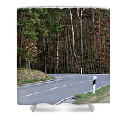 German Country Road Shower Curtain