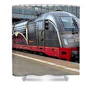 German Electric Train Munich Germany Shower Curtain
