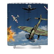 German Ju 87 Stuka Dive Bombers Shower Curtain