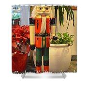German Nutcracker - Frohe Weihnachten Shower Curtain