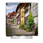 German Old Village Quedlinburg Shower Curtain