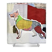 German Shepherd Shower Curtain by Michel Keck