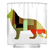 German Sheppard 2 Shower Curtain by Naxart Studio