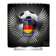 German Soccer Champions Shower Curtain