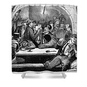 Germany: Beer Cellar, 1875 Shower Curtain