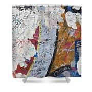 Germany, Berlin Wall Berlin Shower Curtain