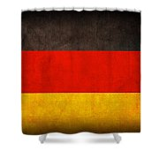 Germany Flag Vintage Distressed Finish Shower Curtain by Design Turnpike