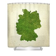 Germany Grass Map Shower Curtain