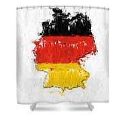 Germany Painted Flag Map Shower Curtain