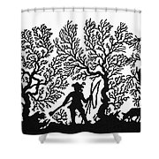 Germany Silhouette Shower Curtain
