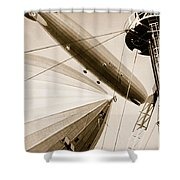 Germanys Two Mighty Airships, The Graf Shower Curtain
