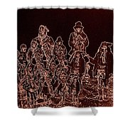 Geronimo About Time Of His Surrender #2 C.s. Fly Photographer 1887-2008 Shower Curtain